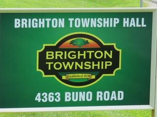 Brighton Township Hall Sign 320w240h