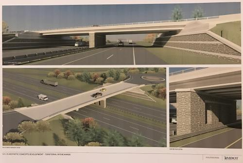 MDOT 11 9 2016 Territorial Road Overpass Aesthetics pic1 proc 500w337w